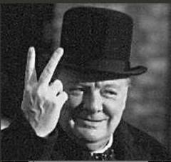 Oh, Winston, that hand signals means quite a different thing now than it did in your day...