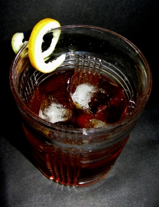 Sweet Vermouth with Twist Drink