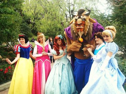 Oh, so Beast is allowed to hang out with the princesses, but Tiana has to stay on the other side of the park!