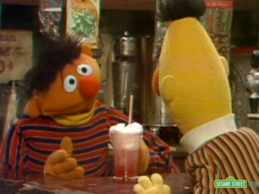 My boys Ernie and Bert enjoy a cream soda... this could have been a telling sign, if you catch my drift...