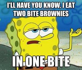 Sponge Bob Two Bite Brownie