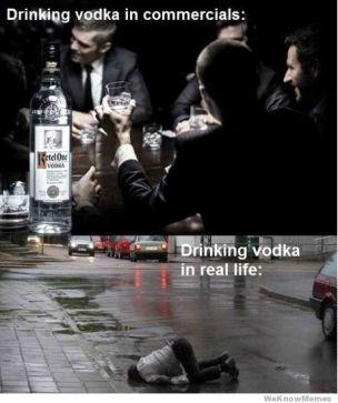 drinking-vodka-in-commercials-vs-real-life