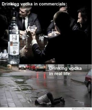 drinking-vodka-in-commercials-vs-real-life