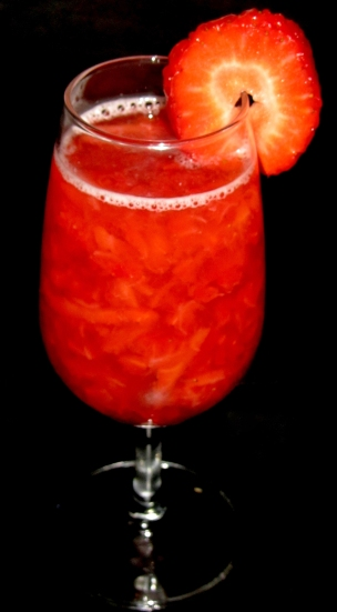 Yellow Strawberry Cocktail