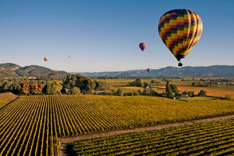 Bubbles over Napa