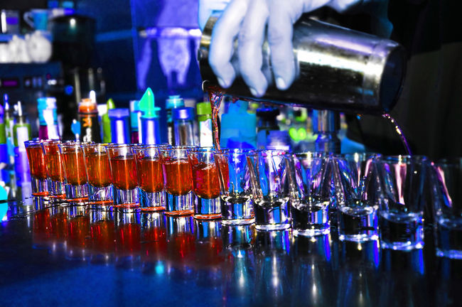 Frenchman Sets Bar Record By Drinking 56 Shots Guess What Happens Next on liquor display bar