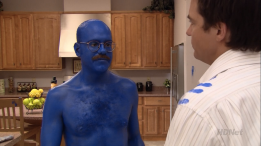 """I'm afraid I just blue myself!"""