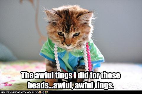 Beads Kitty