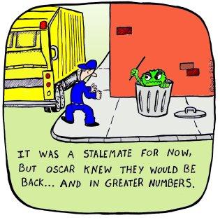 garbage man-oscar