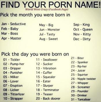 Porn Star Name