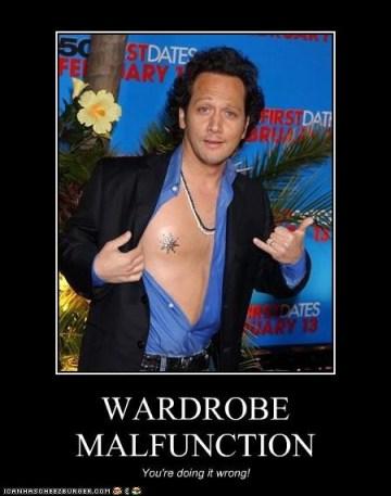 Rob Schneider Wardrobe Malfunction