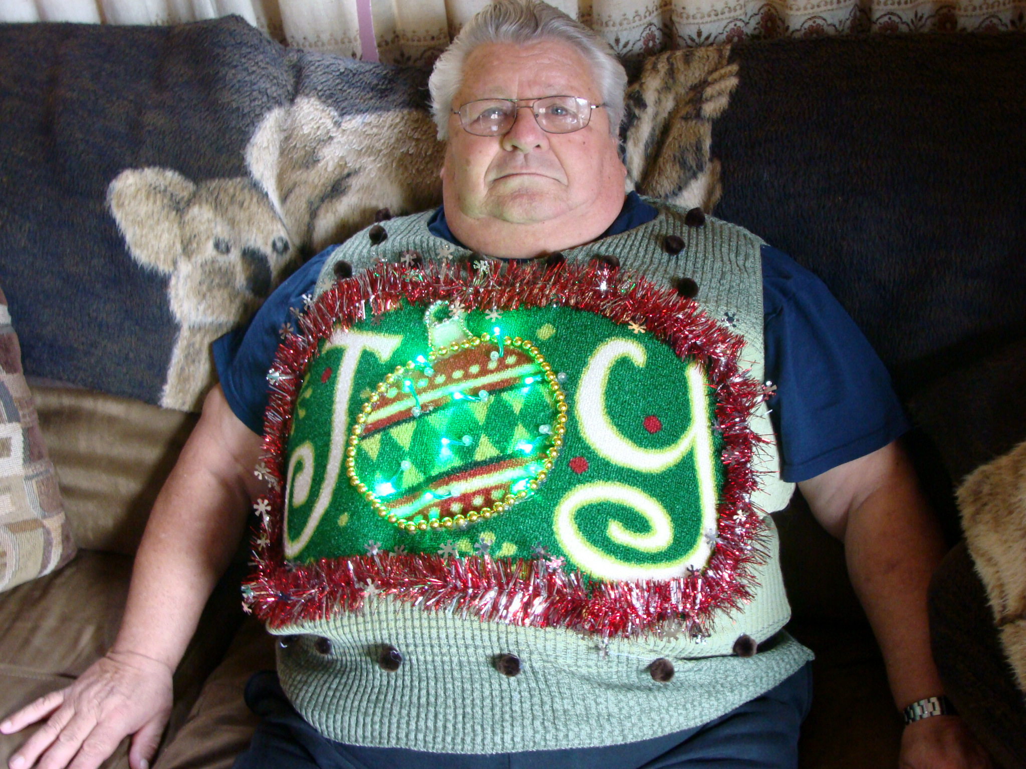 Pictures of homemade ugly christmas sweaters