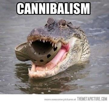 Croc Cannibalism