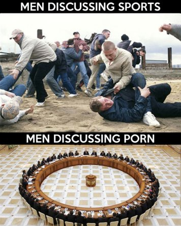 Men Discussing