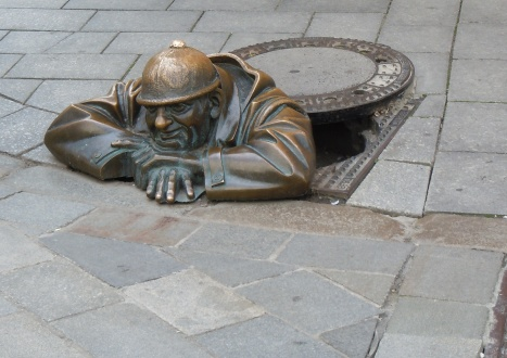 sewer statue