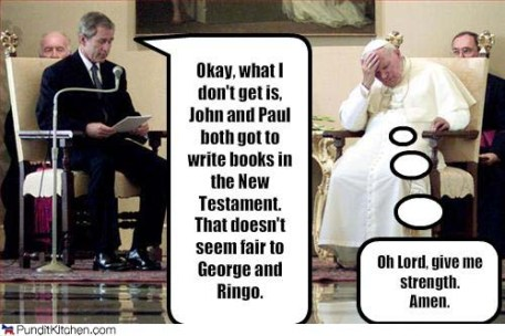 Pope with Bush
