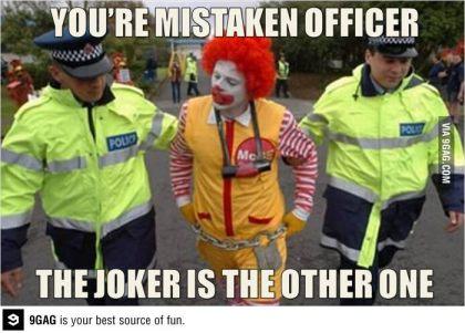 Ronald McDonald Joker