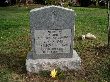 Jonestown Tombstone