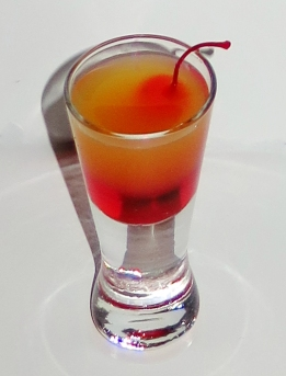 Pineapple Upside-Down Cake Shot