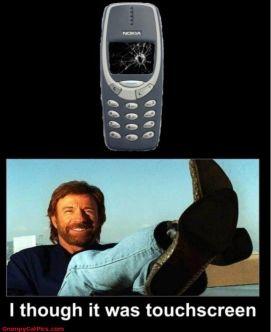 Chuck Norris Touchscreen