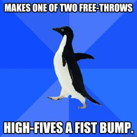 free throw high fives