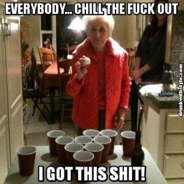 Beer Pong Grandma