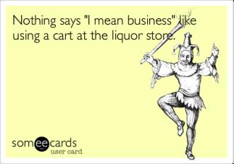 liquor store cart