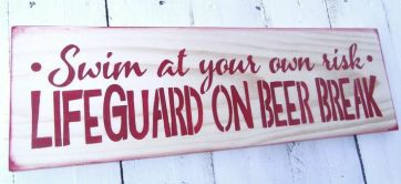 lifeguard on beer break
