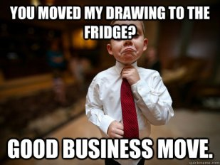 drawing to fridge