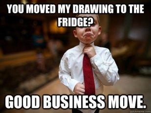 drawing to fridge