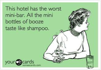 hotel mini bar