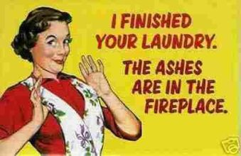 laundry ashes