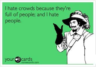 crowds people