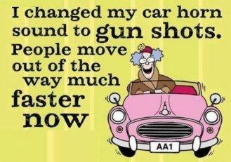 horn gun shots