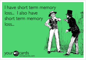 short term memory loss
