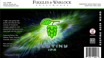 Fuggles and Warlock Destiny IPA