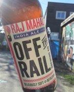 Off the Rail Raj Mahal India Ale