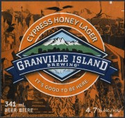 Granville Island Cypress Honey Lager