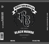 Ridge Black Mamba Milk Stout