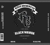 Ridge Black Mamba Milk Stout