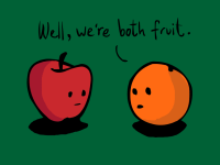 Apples to Oranges