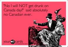 Canada Day Drunk