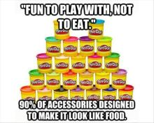 Eating Play-Doh
