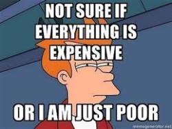 expensive poor